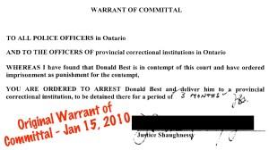 20100115 Warrant Justice Shaughnessy SAN