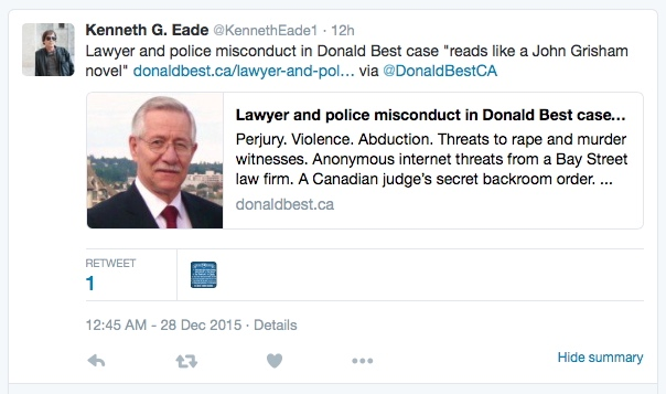 Author Kenneth Eade Killer Lawyer-private