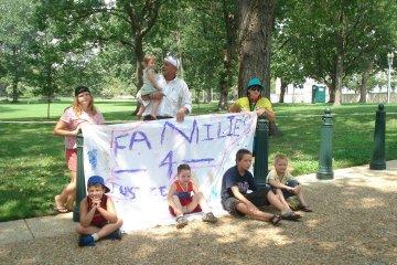 Sadie Dawn and Donald Tenn in Washington, DC nationwide protest