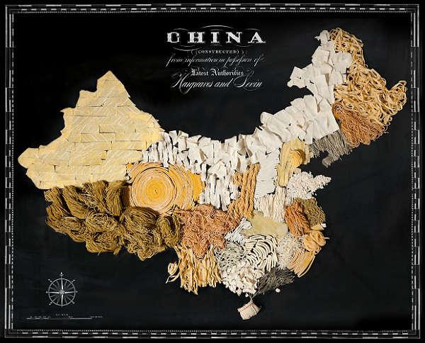 Mapa com Comida Típica de Cada Região China