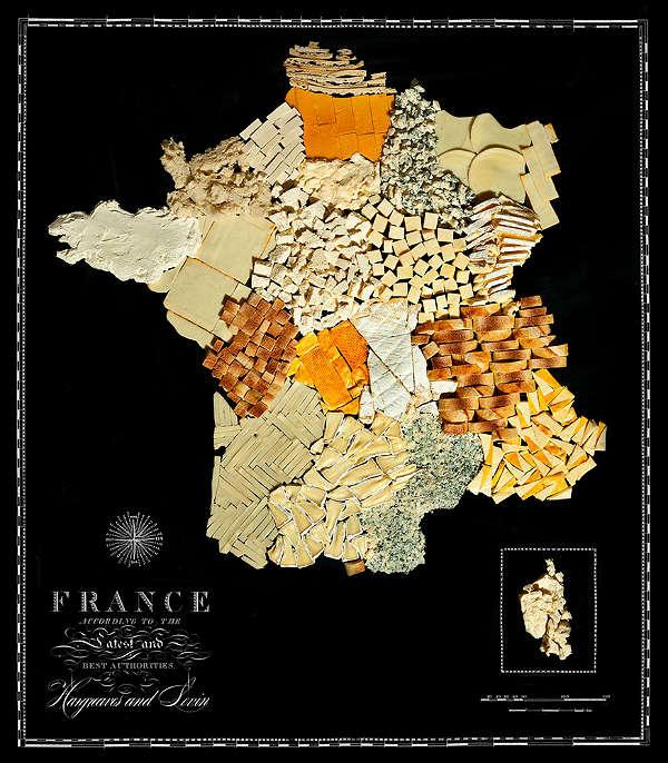 Mapa com Comida Típica de Cada Região França
