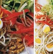 Salada Crocante de Alface, Nozes e Kani