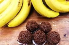Brigadeiro de Casca de Banana com Granulado de Chocolate