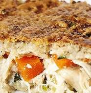 Saborosa Torta de Frango Cremosa com Massa de Couve