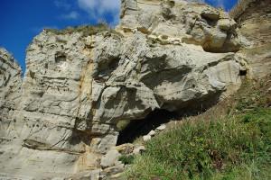 くぐり岩 上部の穴