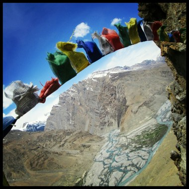 View from top of Dhankar monastery