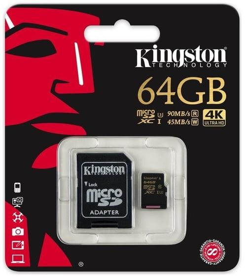 Kingston 64GB SDCG microSD kart inceleme