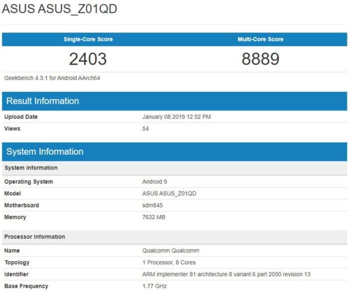 Asus ROG Phone için Android Pie