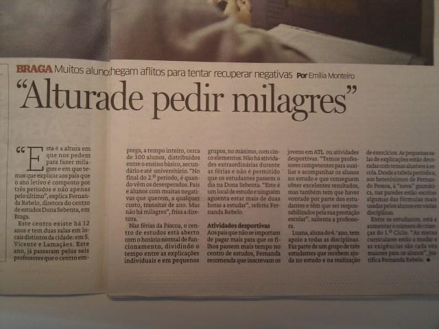A Dona Sebenta no Jornal de Notícias 02