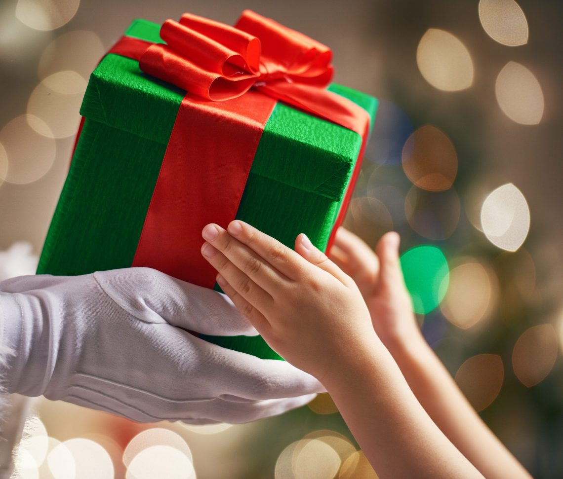 Giving present for child