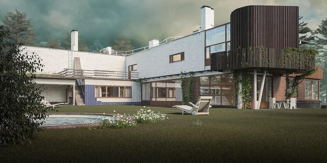 Villa Mairea - rendering by Donato Locantore