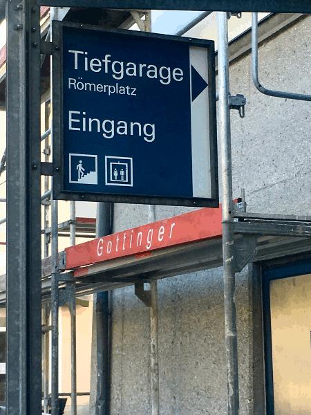 Anreise zur Tiefgarage am Römerplatz in Passau