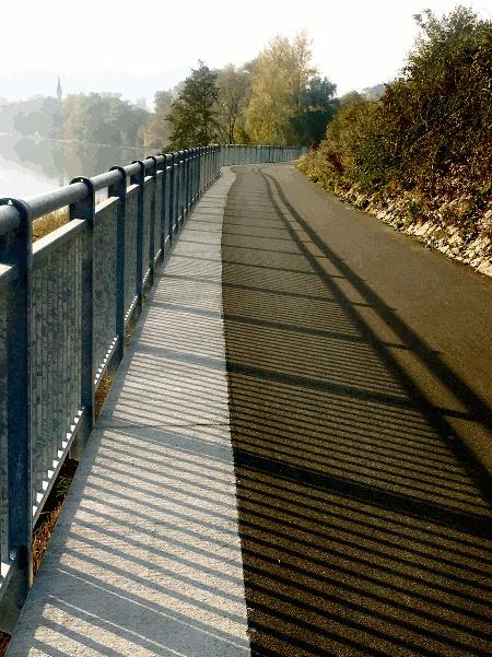 Der neue Donauradweg Abschnitt von Puchenau nach Linz an der Donau
