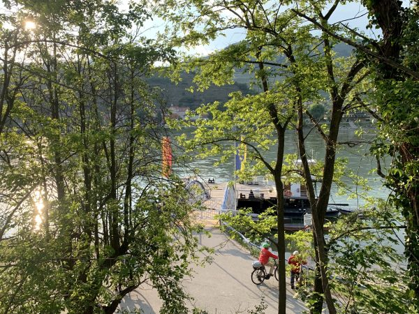 The rolling ferry from Arnsdorf to Spitz an der Donau