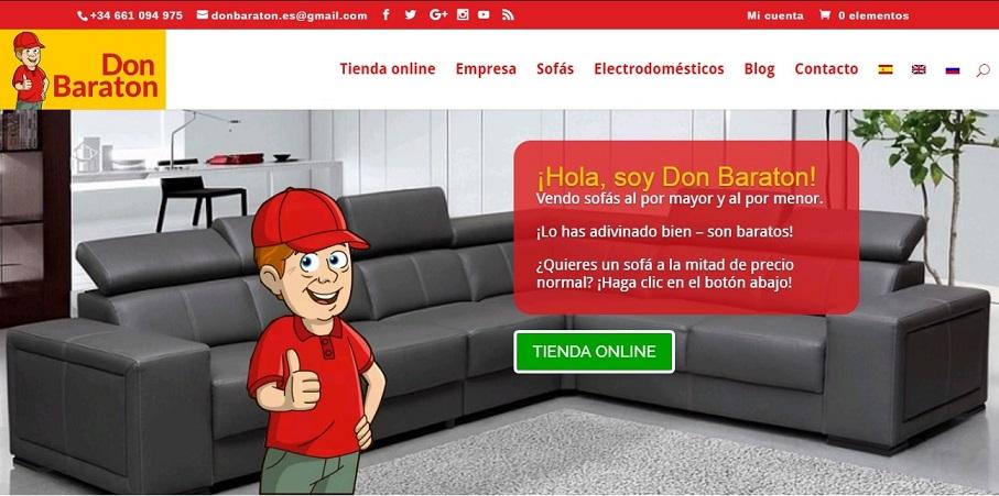 Tienda online de muebles donbaraton.es