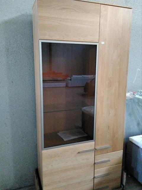 Armario con tres cajónes y puerta transparente - CLEAR