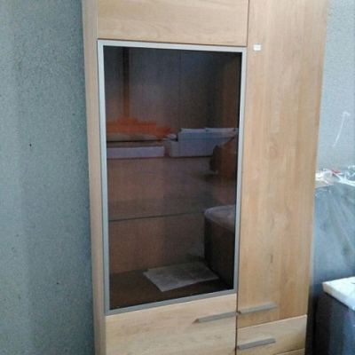 Wardrobe with 3 Drawers and Transparent Door - CLEAR