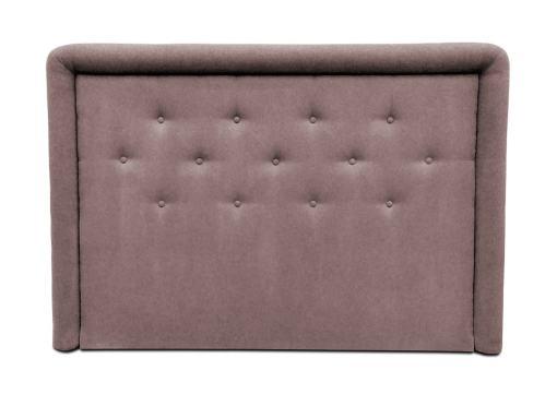 Изголовье кровати с мягкой обивкой и пуговицами, 170 x 120 см - Good Night. Коричневая ткань