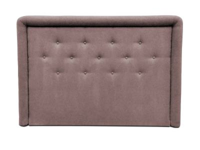 Headboard Upholstered in Fabric with Buttons, 170 x 120 cm - Good Night. Brown Colour