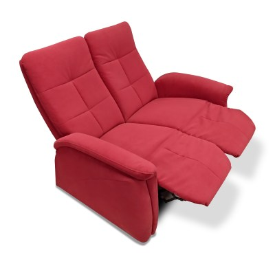 Two Seater Recilner Sofa - Jet. Leg Rests Up