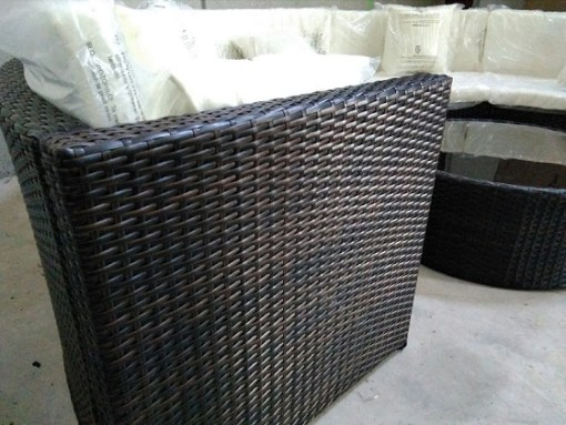 Rattan Close-up. Garden Furniture Set - Sofa and Table - Ibiza