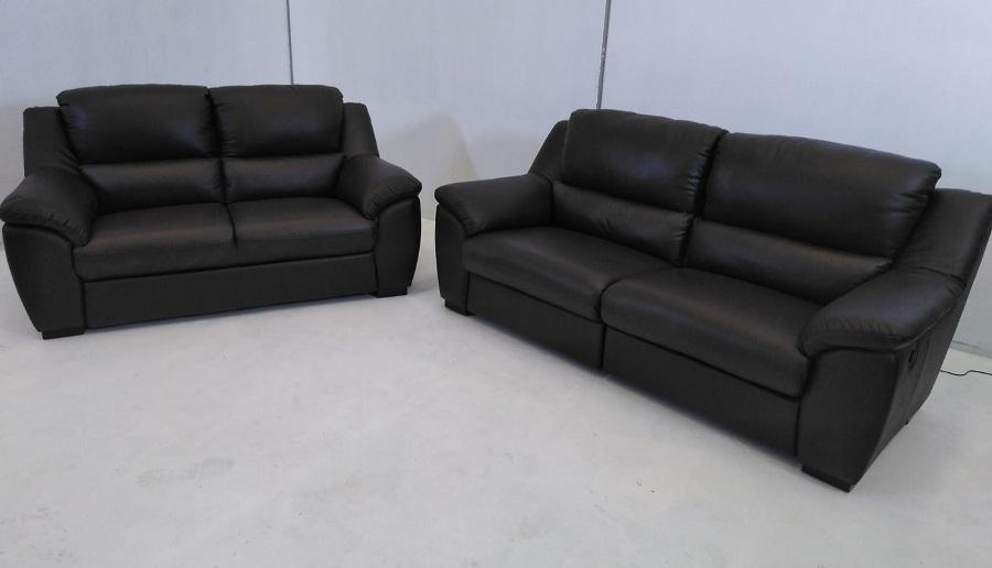 Brown Leather Sofa Set 3 Seater 2 Seater Leon Don Baraton