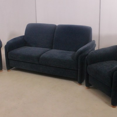 Sofa Set - 3 Seater Sofa and 2 Armchairs - Mar