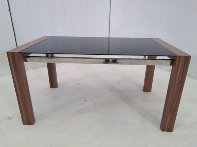 Coffee Table - Metal, Wood and Glass - Tec