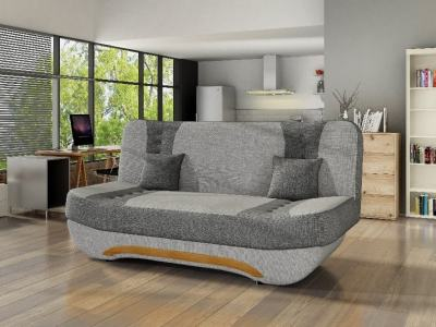 Компактный раскладной диванчик - Olivia. Светло-серая и серая ткани - 11