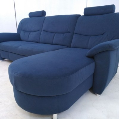 Blue Sofa with Chaise Longue - Claudia