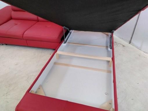 Arcón. Sofá esquinero cama de piel auténtica con desperfectos - Fabio