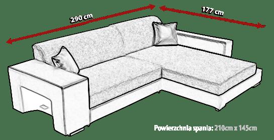 Chaise longue sofa bed with pouffe santa monica don - Medidas de sofas chaise longue ...