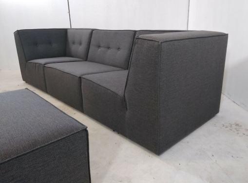 Sofá de 3 plazas moderno más puf - Modules