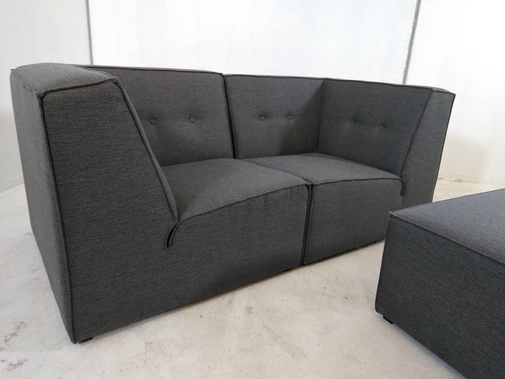 Sof modular peque o 2 plazas de color gris m s puf modules don baraton tienda de sof s - Sofa 2 plazas pequeno ...
