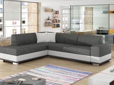 Modern Corner Sofa Bed with Cushions (Left Corner) - Barbados