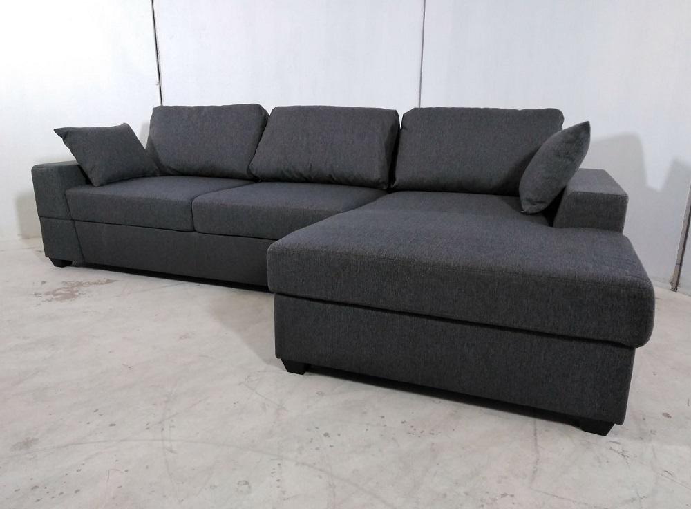 Sof chaise longue tapizado en tela vicente don baraton tienda online de muebles y - Tela tapizado sofa ...
