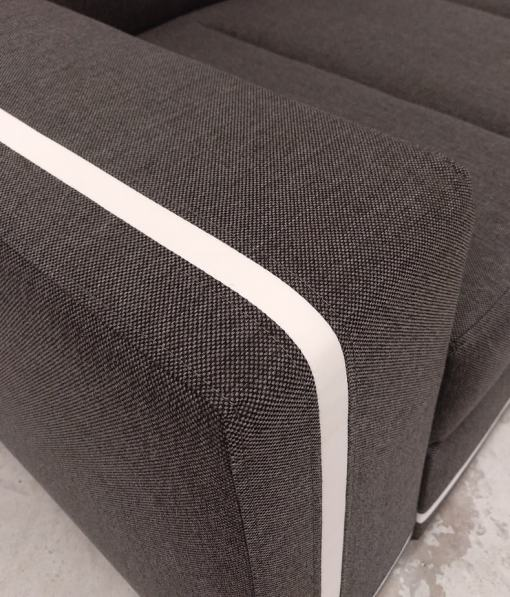 Armrest Close-Up. Sofa Bed with Spacious Chaise Longue - Caicos