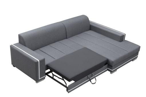 Кровать в выдвинутом состоянии. Диван-кровать с большим шезлонгом - Caicos