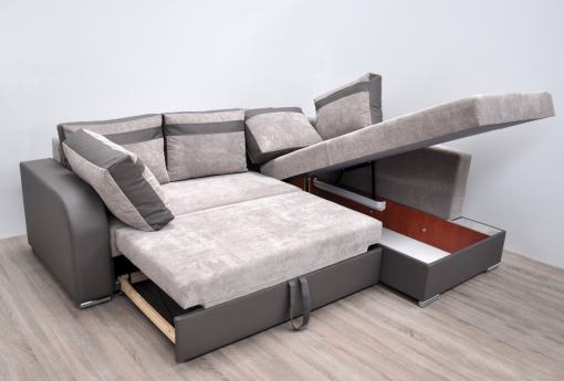 Cama y arcón de sofá rinconera moderno - Bologna