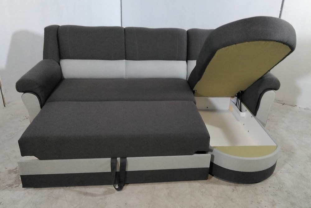 Sof chaise longue cama con alto respaldo parma don for Oferta sofa cama chaise longue