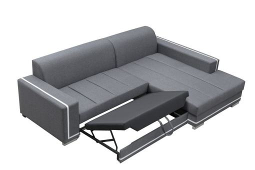 Pull-out Bed Opening Mechanism. Sofa Bed with Spacious Chaise Longue - Caicos