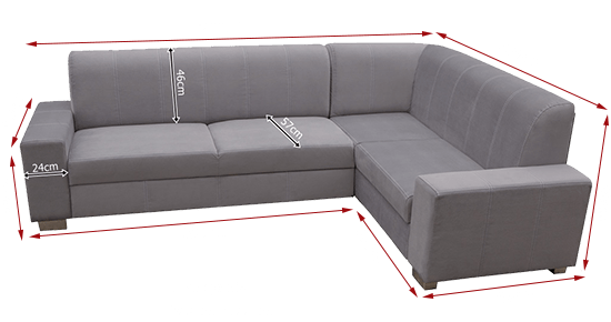 Corner Sofa Bed 4 Seater With Pouffe Sardinia Don