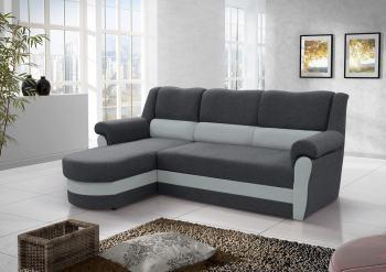 Sofá chaise longue cama aldo respaldo con arcón. Tela de color gris. Esquina izquierda - Parma