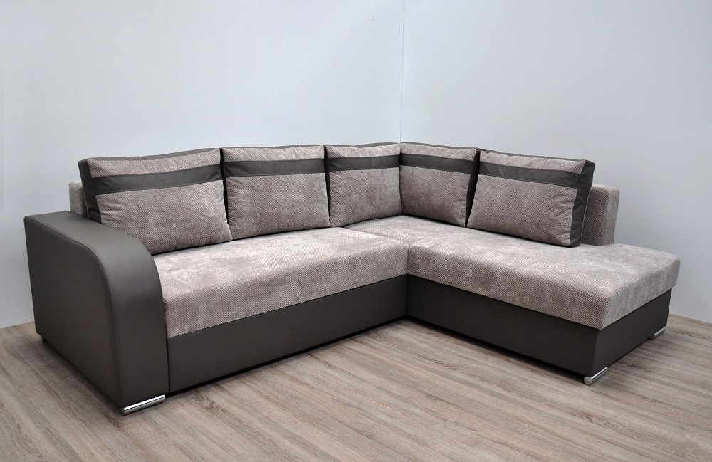 Modern Corner Sofa With Pull Out Bed And Storage Bologna Don Baraton