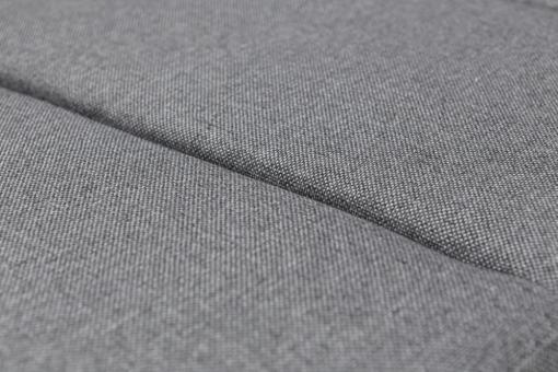 Tela durable de color gris. Sofá cama con chaise longue grande - Caicos