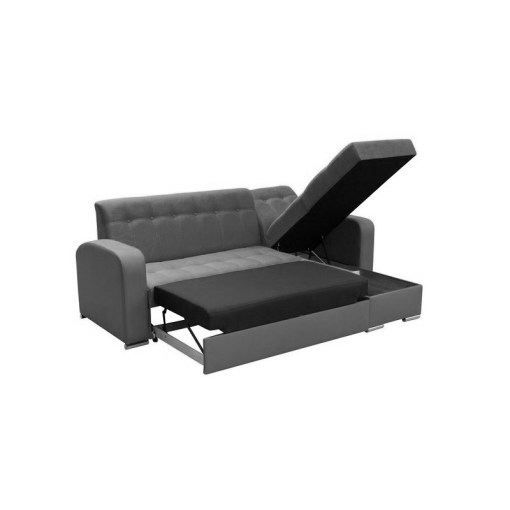 Storage and Pull-Out Bed. Chaise Longue Sofa with Pull-Out Bed and Storage - Salerno