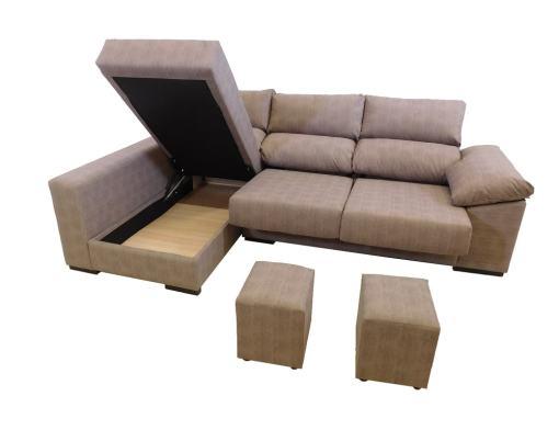 Dos puffs y arcon. Sofá con asientos deslizantes. - Gothenburg