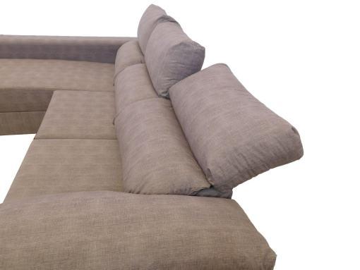 Reposacabezas y raspaldos reclinables. Sofá con asientos deslizantes - Gothenburg