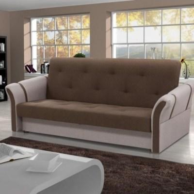 Раскладной диван-кровать - Siena. Комбинация коричневого и бежевого цветов