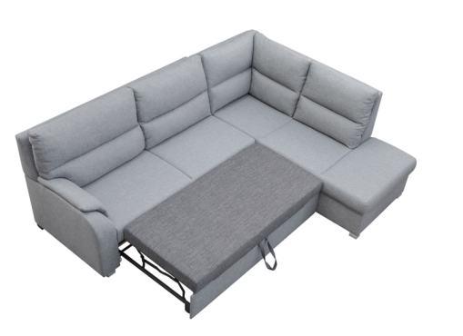 Кровать в выдвинутом положении. Угловой диван-кровать с открытым торцом - Crete